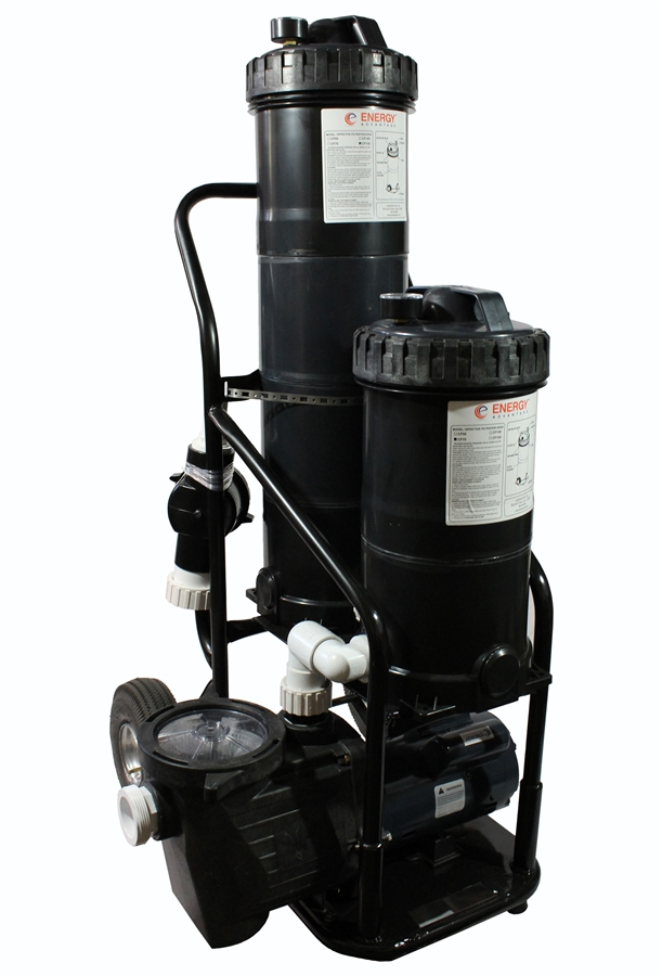 Portable Dual Pond Filter Vacuum