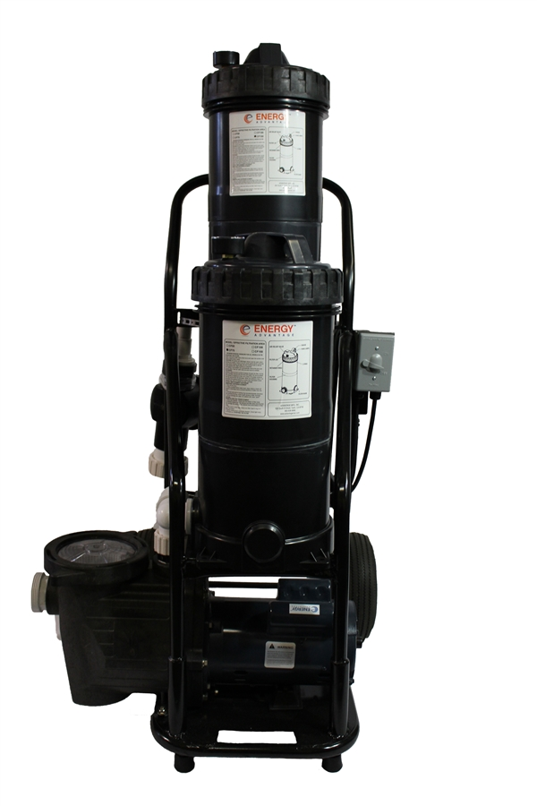 Portable Dual Pond Filter Vacuum For Pools Fountains Ponds